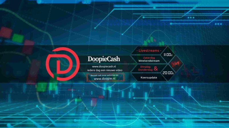 DoopieCash live stream: markt update van Bitcoin en aandelen