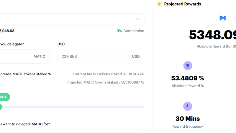 Matic Network Gives a Glimpse Into How Big DeFi Staking Will Be