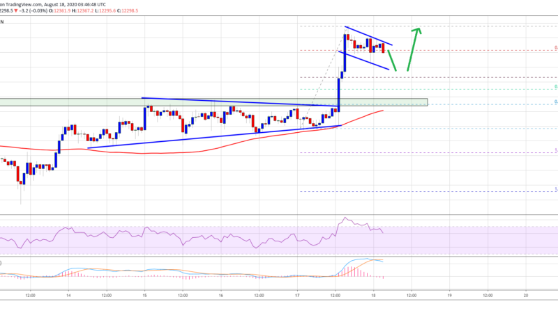 This Bullish Continuation Pattern Suggests Bitcoin Could Rally Above $12,500