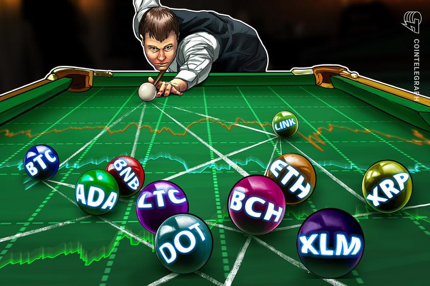 Price analysis 1/15: BTC, ETH, XRP, DOT, ADA, LTC, BCH, LINK, XLM, BNB
