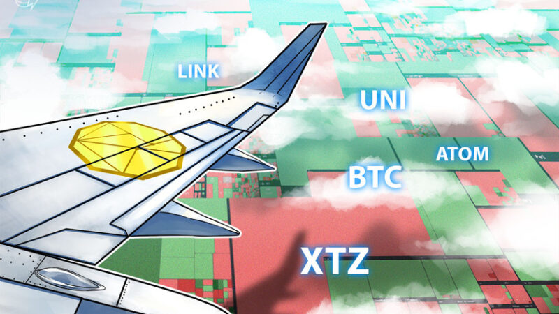 Top 5 cryptocurrencies to watch this week: BTC, LINK, UNI, XTZ, ATOM