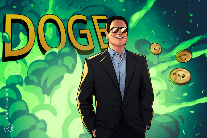 Mark Cuban sees $1 written in DOGE's tea leaves
