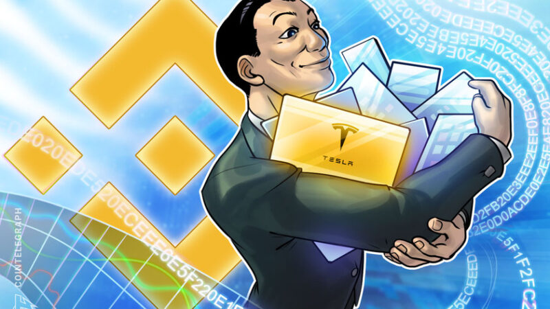 Binance launches tradable stock tokens in Tesla