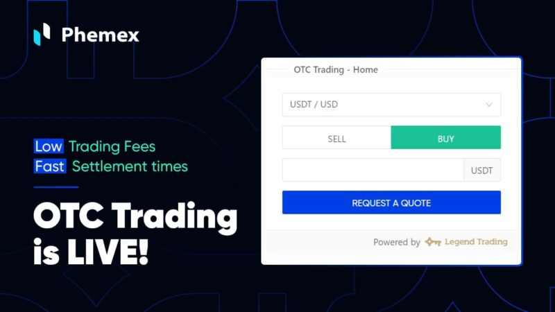 Phemex Launches OTC Trading, Enables Crypto Purchase with Bank Transfers